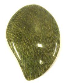 coco mango shape w/ green guinit inlay wholesale pendants