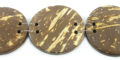 Flat round disc coco beads 30mm wholesale
