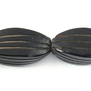 Black horn twist carved wholesale beads