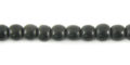 Black horn round 4mm wholesale beads