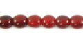 Red horn round 6mm wholesale beads