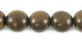 Burnt horn round 10mm wholesale beads