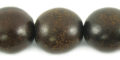 Burnt horn round 15mm wholesale beads