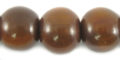 Golden horn round 15mm wholesale beads
