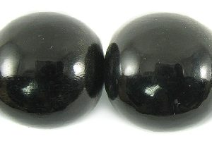 Black horn round 20mm wholesale beads
