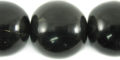 Black horn round 25mm wholesale beads