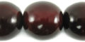 Red horn round 25mm wholesale beads