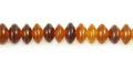 Golden horn saucer 6mm wholesale beads