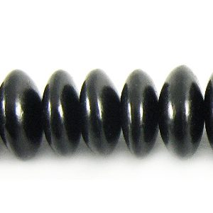 Black horn saucer 8mm wholesale beads