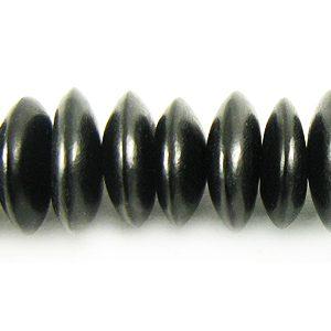 Black horn saucer 10mm wholesale beads