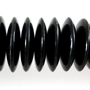 Black horn saucer 20mm wholesale beads