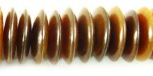 Golden horn saucer 20mm wholesale beads