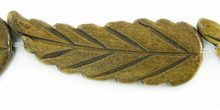 Burnt horn leaf design wholesale beads