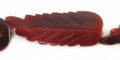 Red horn leaf design wholesale beads