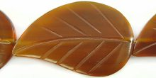 Golden horn leaf 26x42mm wholesale beads