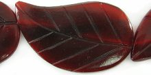 Red horn leaf 26x42mm wholesale beads