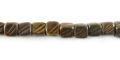Burnt Horn Dice W/Groove wholesale beads