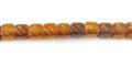 Golden horn cube w/ carve wholesale beads
