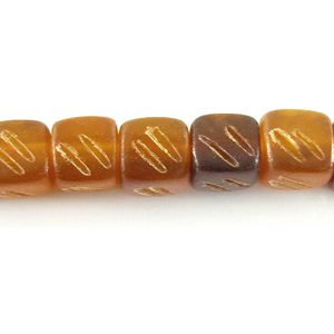 Golden horn cube w/ carve wholesale beads