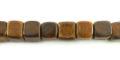Burnt horn dice 7mm wholesale beads