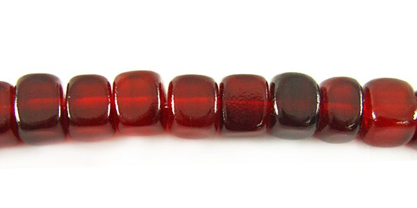Red horn dice 7mm wholesale beads