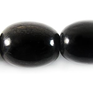 Black horn oval 13x16mm wholesale beads