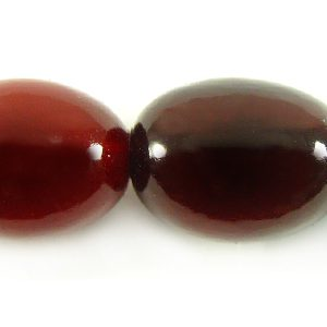 Red horn oval 13x16mm wholesale beads