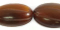Golden horn carved oval wholesale beads