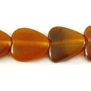 Golden horn heart 10mm wholesale beads