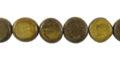 Burnt horn disc 10mm wholesale beads