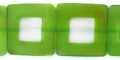 Green Horn 32x32mm square wholesale beads