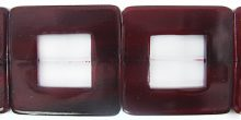 Red horn 32x32mm square wholesale beads