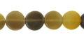 Grey horn 10mm flat disc wholesale beads