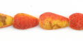 Apple coral rough limestone teardrop wholesale beads