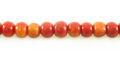 Apple coral limestone round 5mm wholesale beads