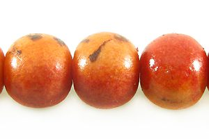 Apple coral limestone round 10mm wholesale beads