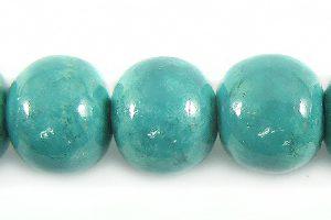 Blue limestone round 10mm wholesale beads