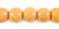 Pastel orange limestone round 10mm wholesale beads