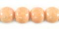 Pastel pink limestone round 10mm wholesale beads