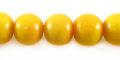 Yellow limestone round 10mm wholesale beads