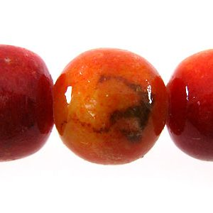 Apple coral limestone round 12mm wholesale beads