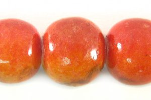 Red limestone round 12mm wholesale beads