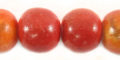 Apple coral limestone round 15mm wholesale beads