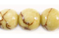 Tiger coral limestone round 15mm wholesale beads