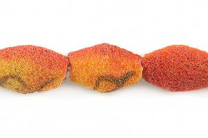 Apple coral rough limestone football wholesale beads