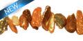 LS-Biwa multi color 8x25mm center drill wholesale beads