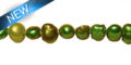 pearl nugget forest green 5-6mm wholesale beads