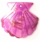 Large seashell purple wholesale pendant