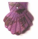 Small seashell purple wholesale pendant