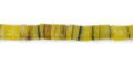 Hammershell heishi yellow wholesale beads